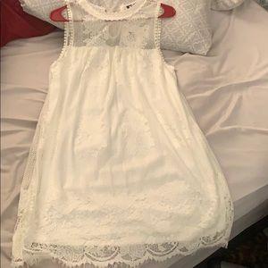 Juniors white lace dress
